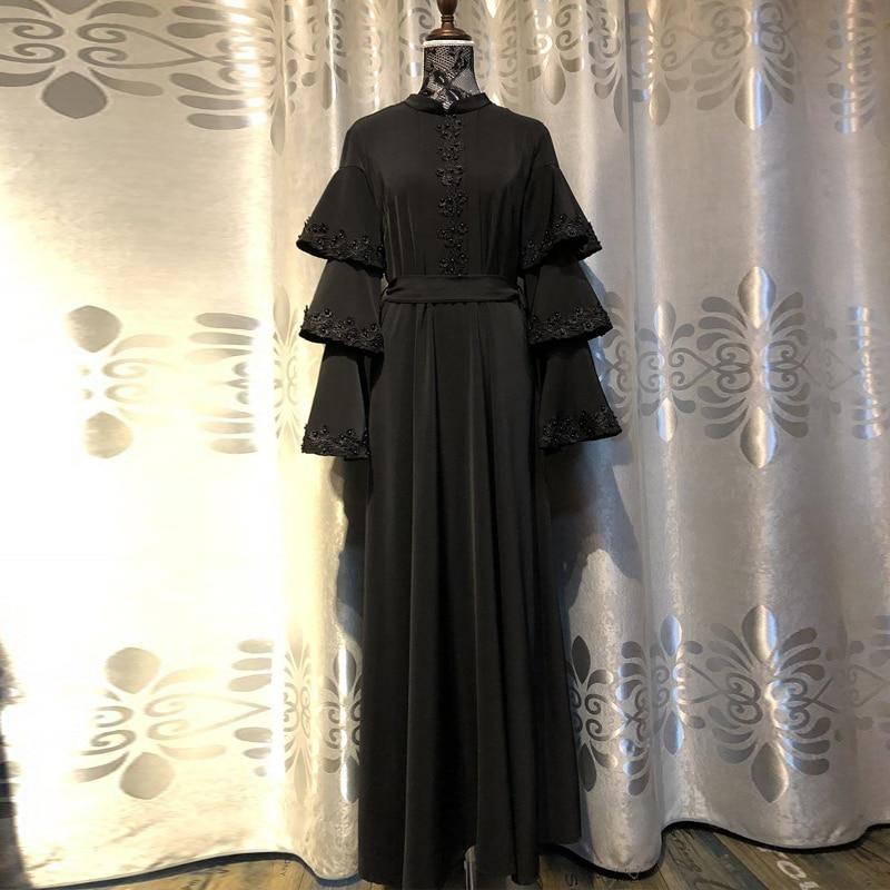 Black Abaya Robe Femme Dubai Islam Muslim Dress Caftan Kaftan Abayas For Women Ramadan Qatar Omani Elbise Hijab Dresses Clothing