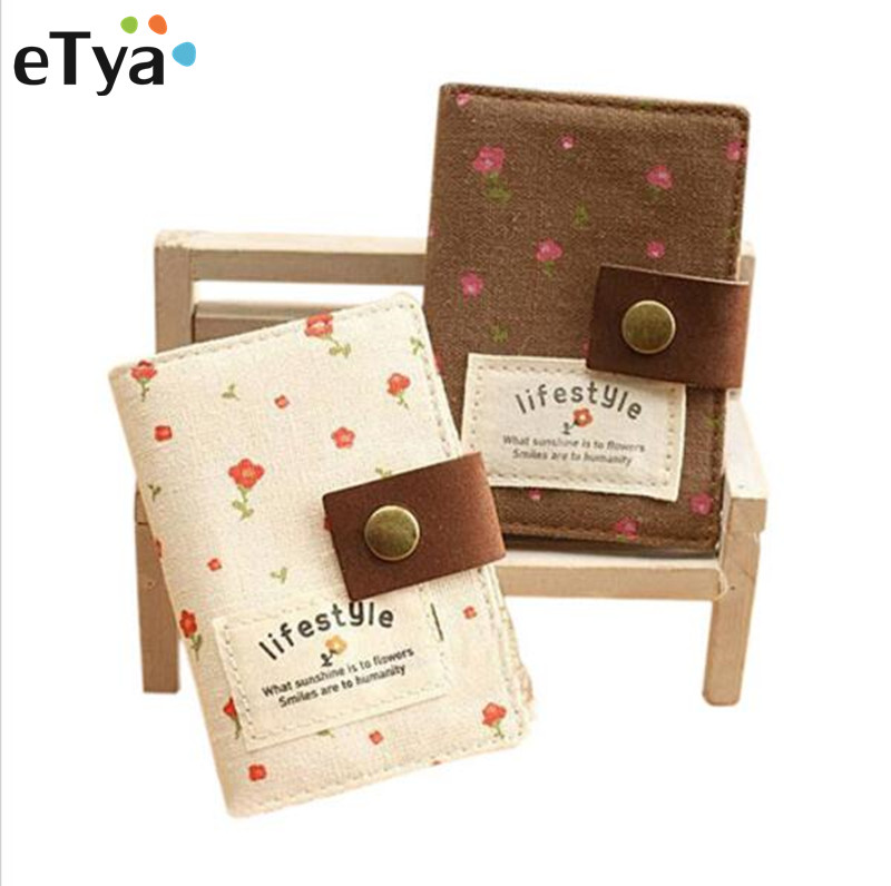 Etya Wallet Card-Holder Pack Business-Credit Floral Korean-Style Fashion Women Slot 1PCS
