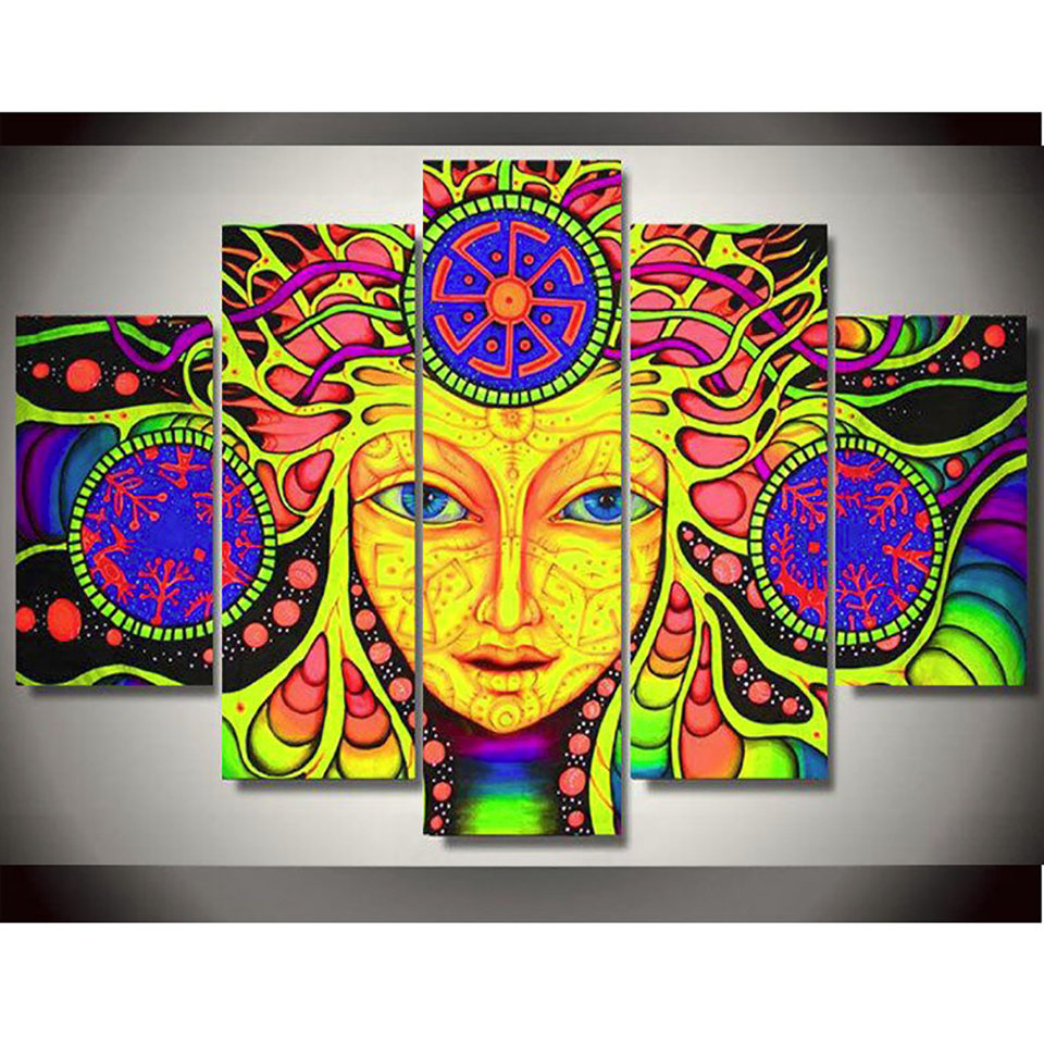 Modern Painting On Canvas Home Decor Posters 5 Panel Psychedelic ...
