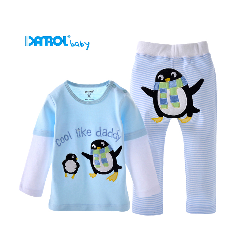 1 т 2 т Хлопковая одежда для маленьких мальчиков свободные длинный рукав для маленьких девочек одежда дышащие пот дети играют Наборы для ухо... ...