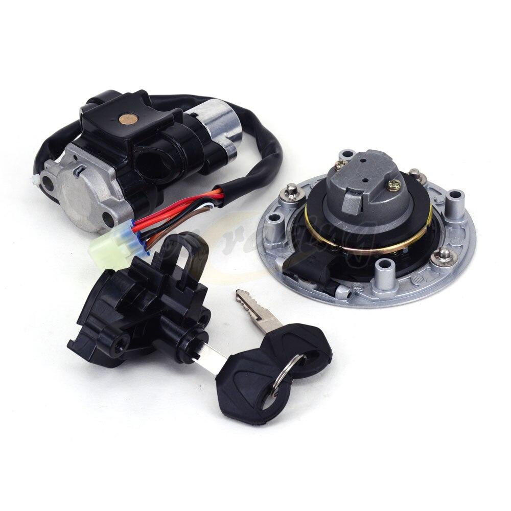 Motorcycle Lockset Ignition Key Switch Fuel Gas Cap Lock Key For SUZUKI Bandit GSF600 1995-2004 GSF1200 1997-2005