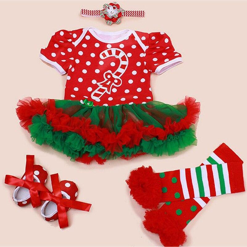 ᗛ4 Unids Por Juego Bebe Ninas Navidad Traje Paraguas Polka Dots