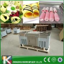 KN-2+10 fried ice cream machine/frying ice cream roll machine with R410 Refrigerant
