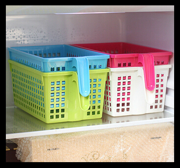 New Refrigerator Food Handle Storage Basket Picnic Kitchen Es Cestas Desktop Sundries Fruit Vegetable
