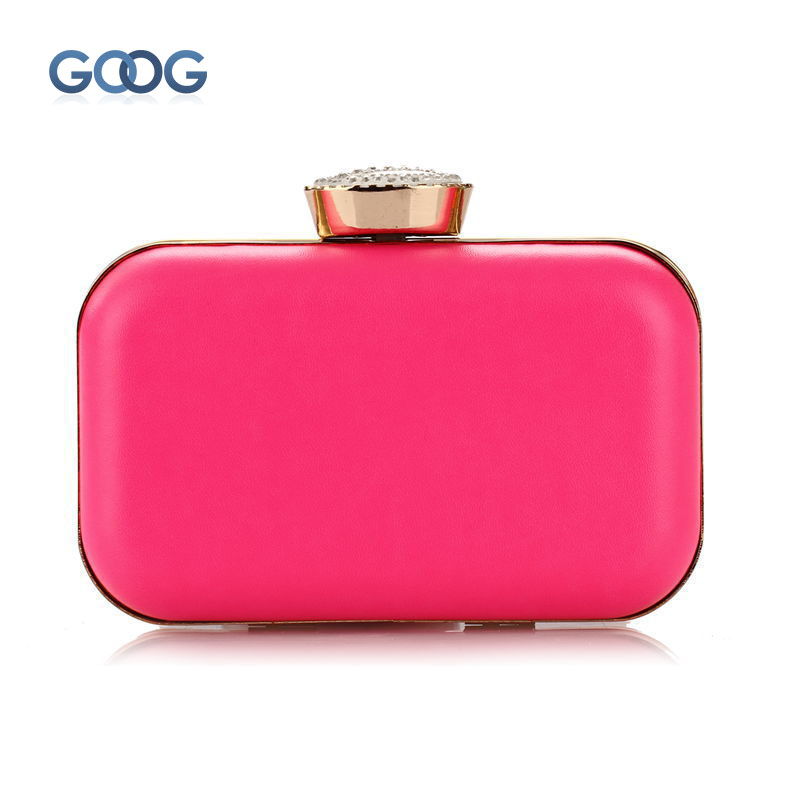 Make Up Women Bag Charming Noble Evening Clutch Bags Fashion New Fluorescent Candy Color Hard Hand Bag Diamond Shoulder Bags