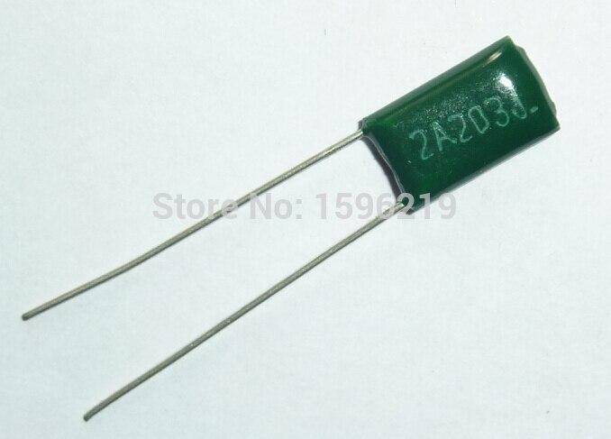 10pcs Mylar Film Capacitor 100V 2A203J 0.02uF 20nF 2A203 5% Polyester Film Capacitor