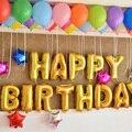 Nueva Decoración Del Hogar Lindo Oro Letras Del Alfabeto Globos Feliz Cumpleaños Decoración Del Partido Globo Membrana de papel de Aluminio #69780