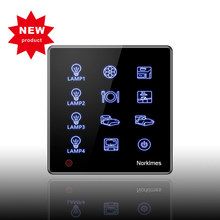 4 gang 2 way Touch switch Tempered glass panel Whole house light control Infrared remote AC85-250V