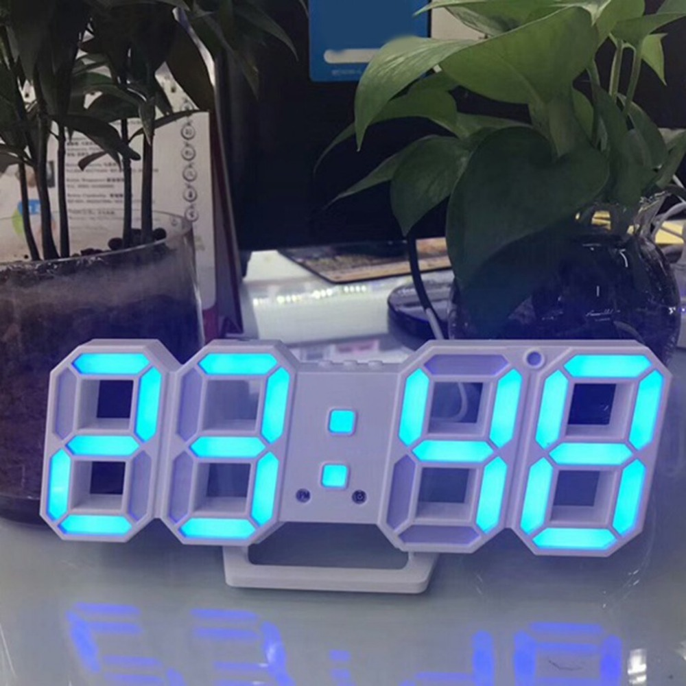 New LED Digital Clock 3D Table Clock Hour Display Alarm Clock Dimmable Nightlight Snooze Decor Function For Home Bedroom Office