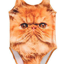 3D Animal Cat Gog Design Swimsuit For Baby Girls One piece Girls Swimwear 1-5Y Infant Toddler Girls Swimming Suit