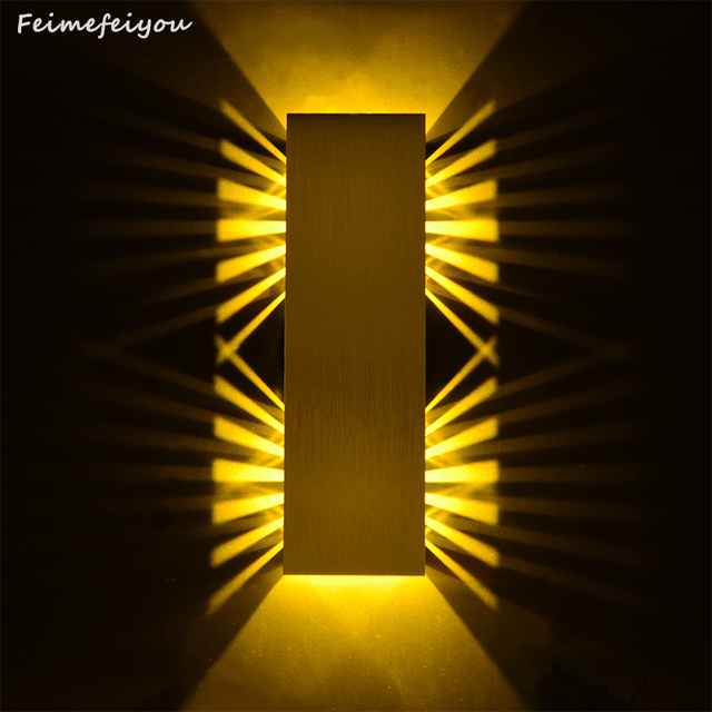 Feimefeiyou Wall Lamp High power Led Wall Lamp Light Up and Down Side Aluminum AC85-220V christmas decorations for home