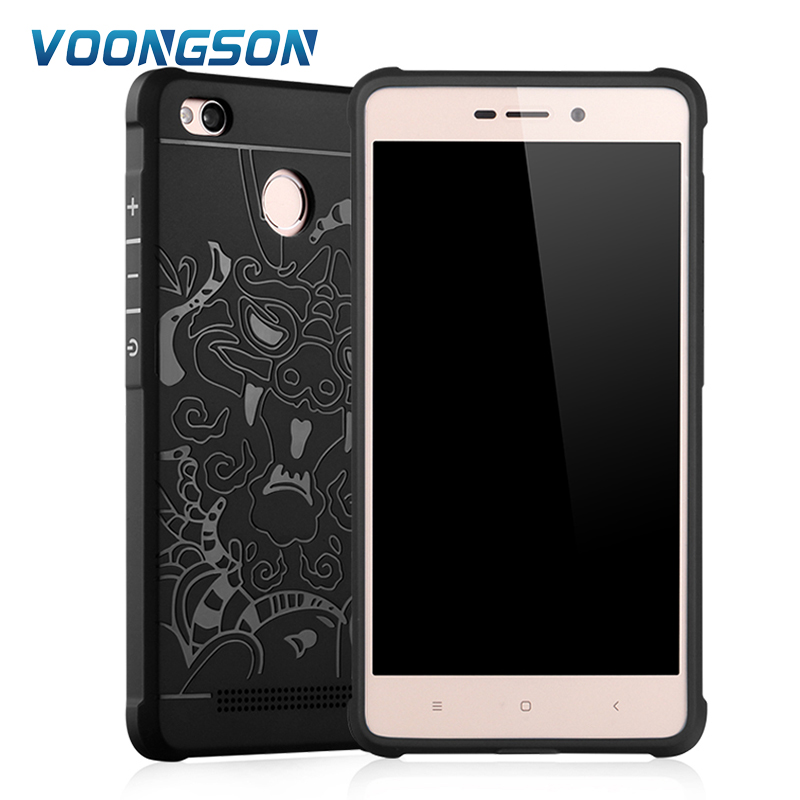 Case For Xiaomi Redmi Mi Note 3 Pro 3s Mix 2 Max 5s Plus M5 5C Cover 3D Carved Dragon Matte Soft TPU For Redmi Note 5A 4X Pro 4A in Fitted Cases from Cellphones Telecommunications