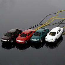 12 шт. 1:150 N Весы Модель освещенные автомобили с 3 в светодиодные огни макет EC1503V