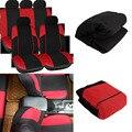 Tirol t21620 universal car seat cover 11 unids/set negro/rojo/azul/gris completo fundas para asientos de cruces sedanes envío gratis