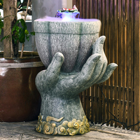 Southeast Asia Home Decoration Buddha Statue Floor Decoration Water Fountain Living Room Humidifier Water Features Gift