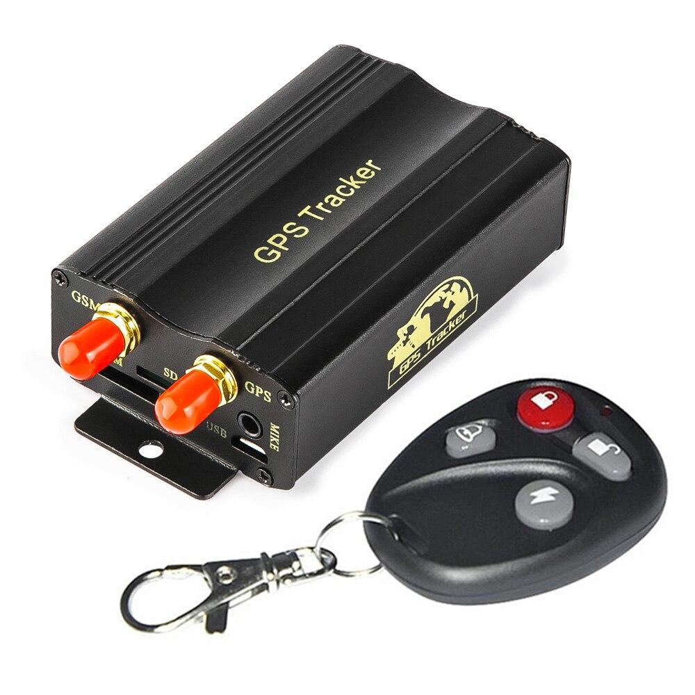 Localisateur de traqueur de véhicule de GPS GSM GPRS de système de traqueur de voiture avec le système d'alarme antivol de voiture de carte SIM de SD à télécommande