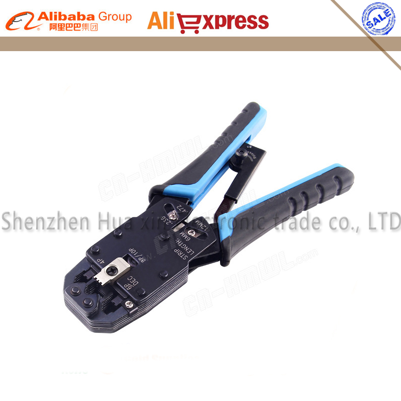 Multifunctional TL-200R ethernet cable modular crimping pliers strippers RJ45 10p10c 8P8C 6P4C 8 more in one modular tools pro skit 808 376h crimping pliers low carbon steel modular crimping tool 190mm