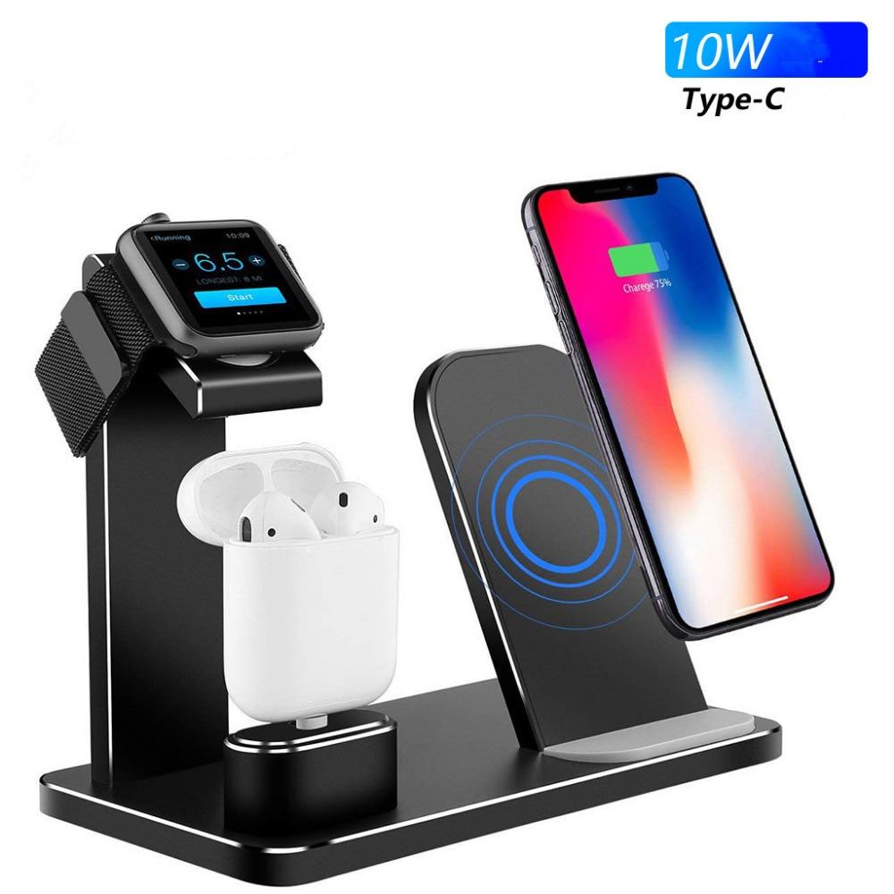 Support de chargeur sans fil 15 W Trois Dans Un Anti-slip Sans Fil De Charge Support Pour Samsung Apple Montre Apple Casque Multifonction
