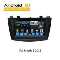 2 Din Android 6.0 8.1 Car Stereo Multimedia System For MAZDA 3 2009 2010 2011 2012 GPS Navigation Auto Radio Carplay YouTube
