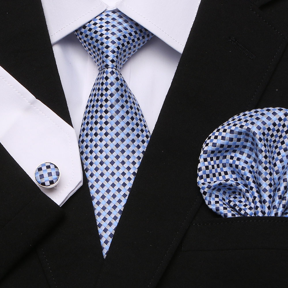 New Quality Tie Set For Men Hanky Tie Sets Dot Striped Neckties Hombre 7.5 Cm Gravata Slim Tie For Wedding Social Party