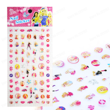 Kids Cute Barbieee Nail Art Decals 3d Pvc Design Kit Tip Fashion Beauty Self Adhesive Stickers