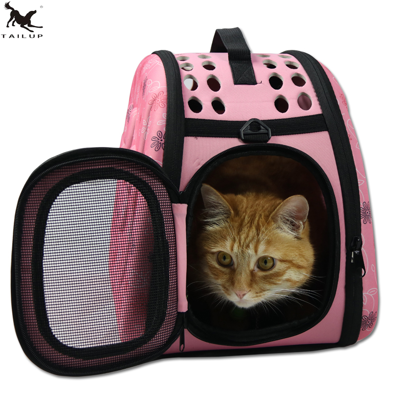 Mascotas Cat Carrier Bag Cat Cote Asa de hombro Carry Bag Puppy Small Dog Breeds Mochila Bolsa PDBAG06