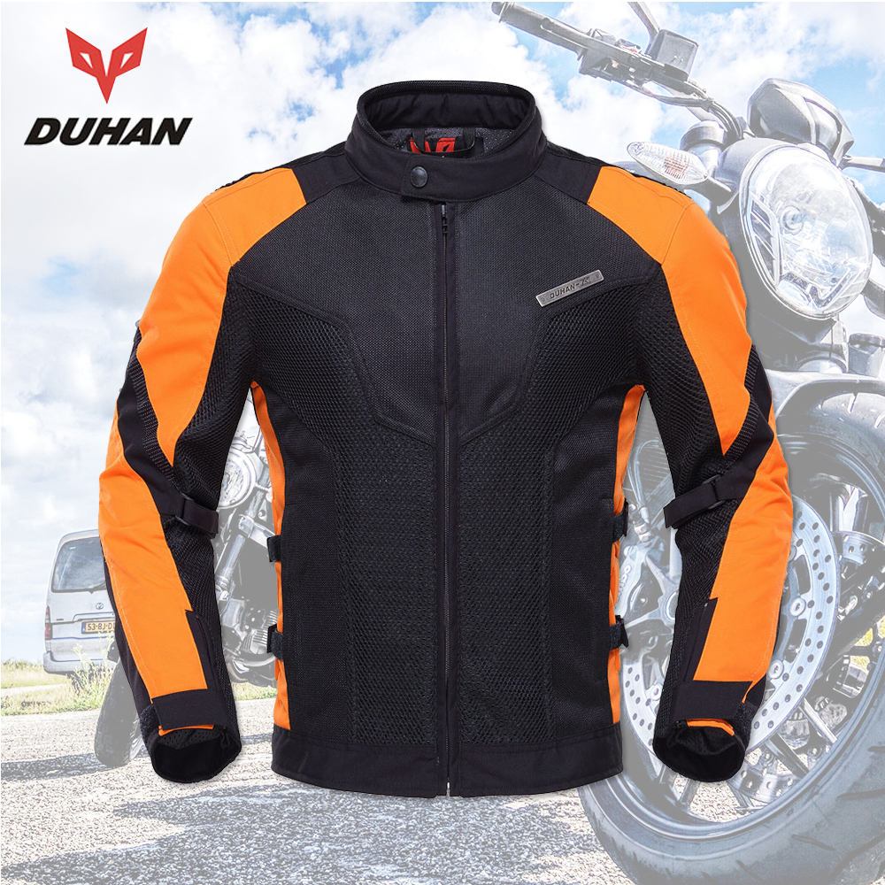 DUHAN moto rcycle veste hommes équipements d'été Respirant moto rbike Veste moto cross Off-Road Jaqueta Tissu Racing moto