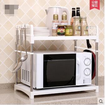 Layer 2 receive microwave oven shelf rack oven kitchen r microwave oven rack shelf storage layer