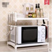 Layer 2 receive microwave oven shelf rack kitchen r storage layer