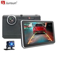 7 Junsun Car DVR Camera GPS Navigation Android 4 4 Full Hd 1080p Recorder Dual Lens