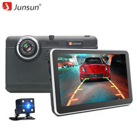 7 Junsun Car DVR Camera GPS Navigation Android 4 4 Full Hd 1080p Recorder Dual Lens