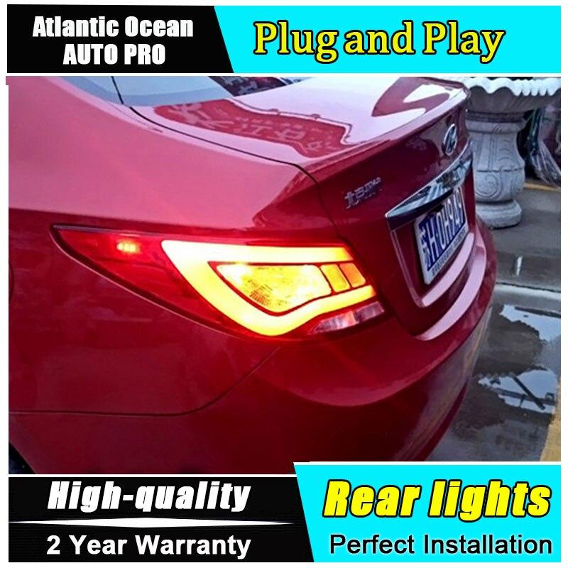 Автомобиль JGRT стайлинг для Хендай акцент светодиодные задние фонари для Solaris 2011-2013 верна задний фонарь задний фонарь задний свет 1 пара ,4шт