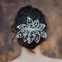 YouLaPan HP248 Newest design bridal crown headwear jewelry hair vine shiny rhinestone headpieces