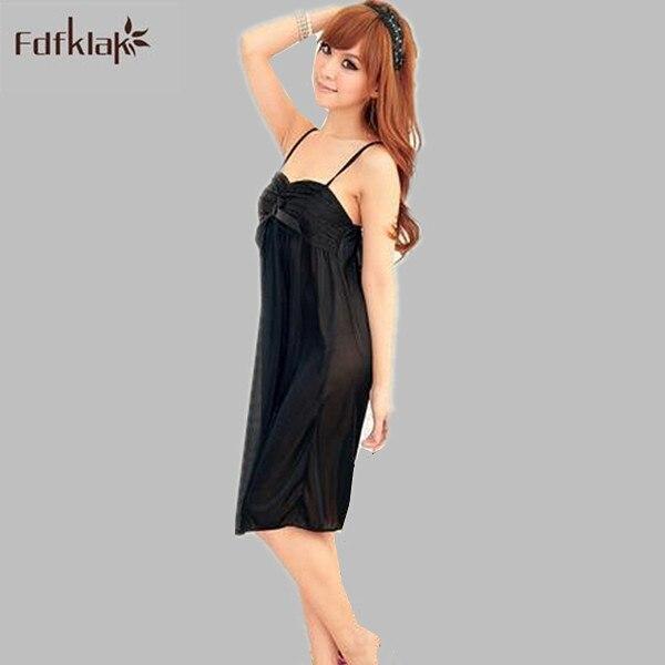 2017 New sexy women summer nightgowns female sleeveless ice silk soft night dress ladeis sleepwear night gown sleepshirts A393