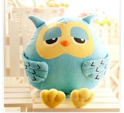 Stuffed Animal 45 Cm Green Night Owl Plush Toy Cute Owl Doll Gift