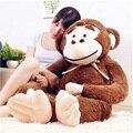 Fancytrader Jumbo Grande Animal Orangotango Brinquedos de Pelúcia Gigante de Pelúcia Macia Dos Desenhos Animados do Macaco Boneca 165 cm Marrom Roxo Presentes Dos Miúdos