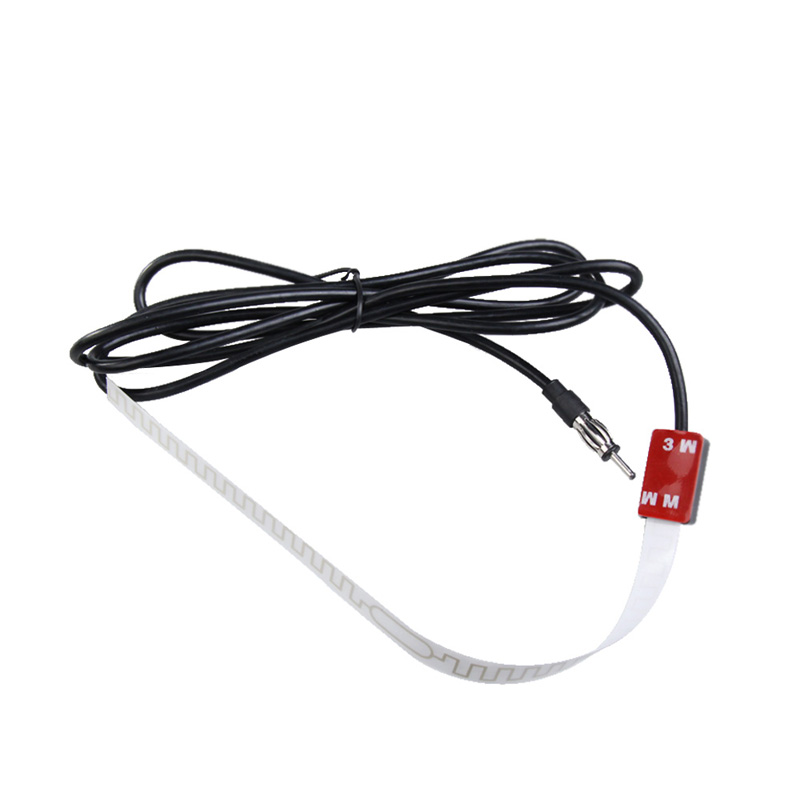 12v black car aerial antenna signal amp amplifier booster car radio antenna fm 88 108mhz  truck
