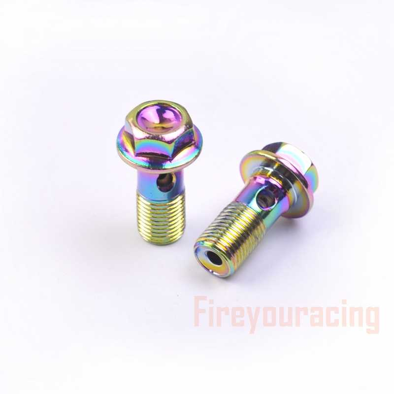 Fireyouracing Motorcycle Brake Hose Bolts Hydraulic Clutch Pump Master  Cylinder Banjo Screw Oil Output Bolts Nuts M10 Colorfuls