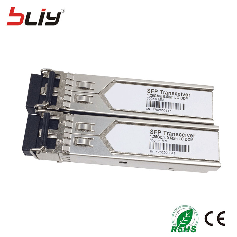 1.25G mini module SFP gbic transceiver dual fiber multi mode 0.6KM 1000M sfp module fiber port sfp transceiver