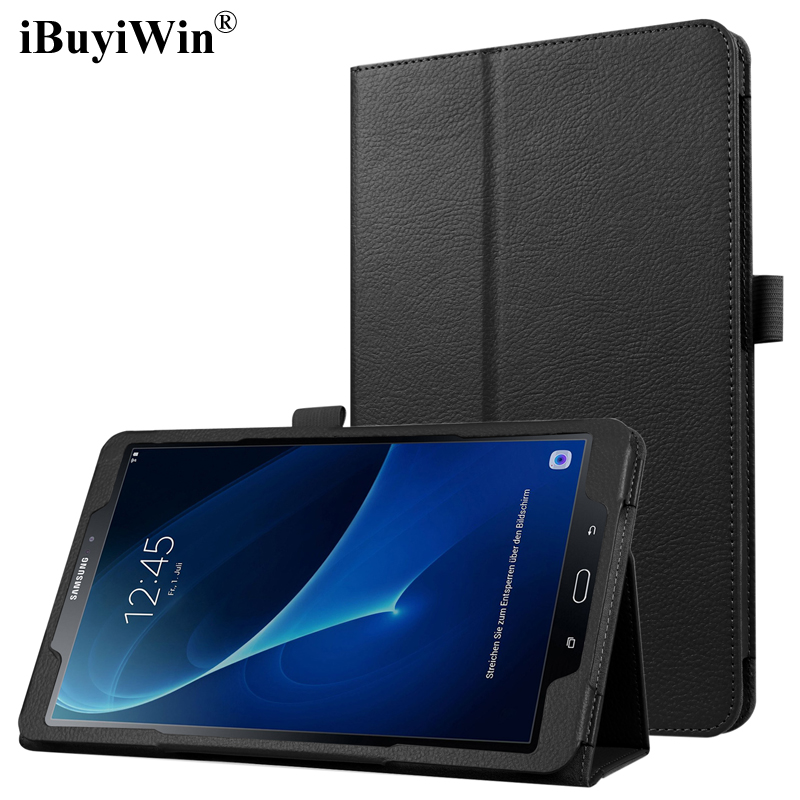iBuyiWin Case for Samsung Galaxy Tab A 10.1 2016 T580 T585 Silm Stand Flip Cover Case for Samsung Galaxy Tab A6 SM-T580+Film+Pen ultraslim flip cover case for samsung galaxy 2016 tab a a6 10 1 with s pen tablet sm p580 p585 smart shell stand cover case