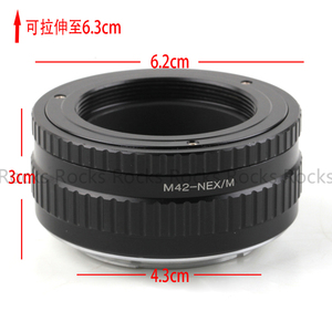 Image 5 - Pixco Adjustable Focusing Macro Helicoid Adapter Tube Suit For M42 Lens to Sony E Mount Camera NEX A5000 A3000 5T 3N