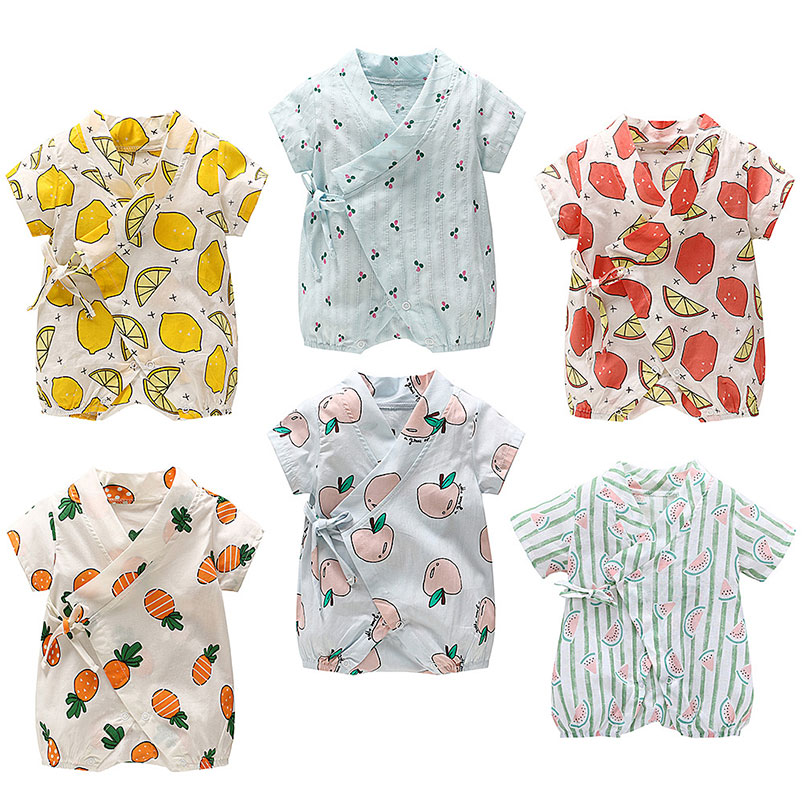 Vorsichtig Babyspielanzug Sommer Baumwolle Kleidung Neugeborenen Kurzarm 0-2 Jahre Jungen Mädchen Kind Overalls Climb Kleidung Handy Straps