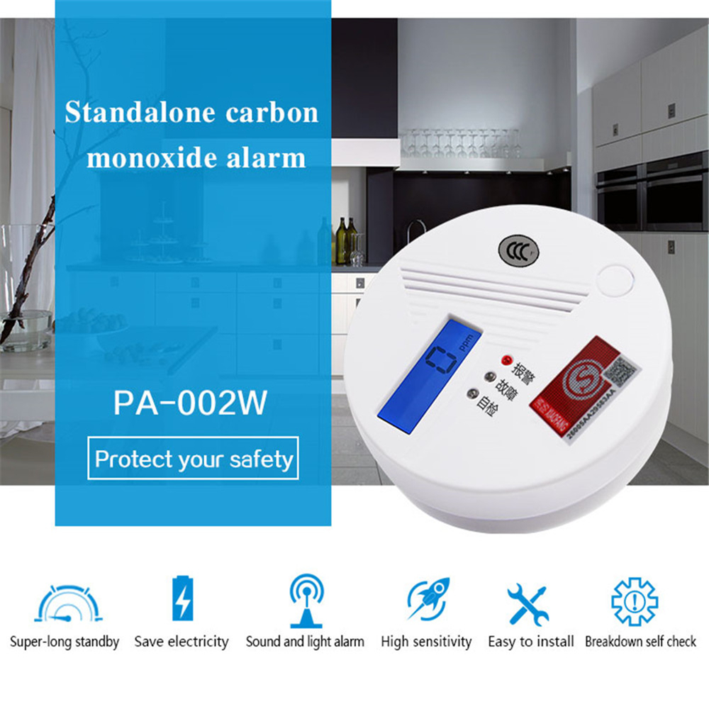Image 2 - High Quality Sensitive Carbon Monoxide Poisoning Alarm Detector Smart CO Gas Smoke Sensor Detector LCD Indicator 80dB Warning-in Carbon Monoxide Detectors from Security & Protection