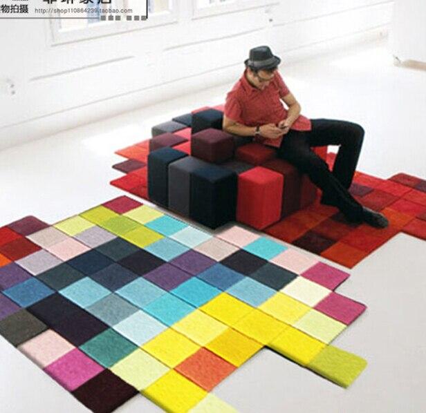 Современные ковры ручной работы гостиная спальня модный креативный журнальный столик диван инопланетянин индивидуальность тренд ковер по индивидуальному заказу