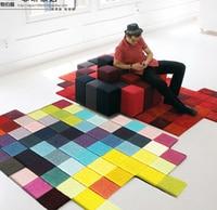 Modern Handmade carpets Living room Bedroom Fashion creative Coffee table sofa Alien Individuality Trend Carpet customized