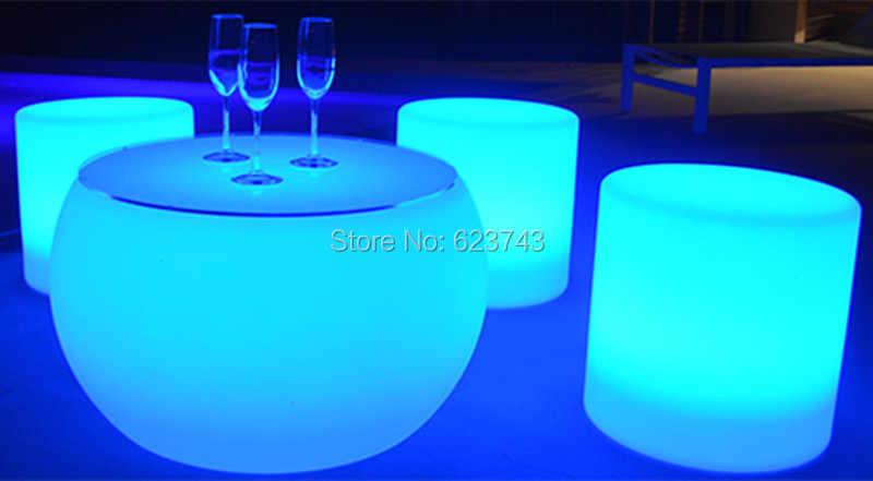 Открытый водонепроницаемый перезаряжаемый светодиодный круглый табурет пульт дистанционного управления цилиндр светящиеся стул барный вальс удобные сиденья
