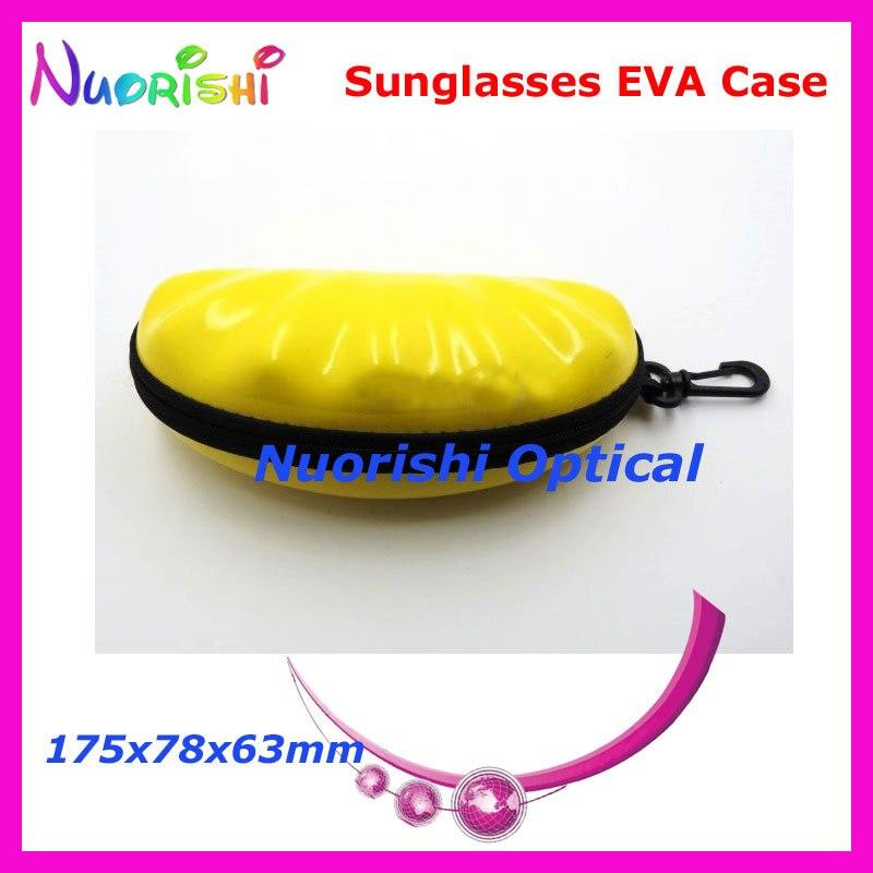 20 шт. в форме ракушки большой размер хороший 4 цвета на молнии очки солнцезащитные EVA чехол коробка ML023 - Цвет: Yellow