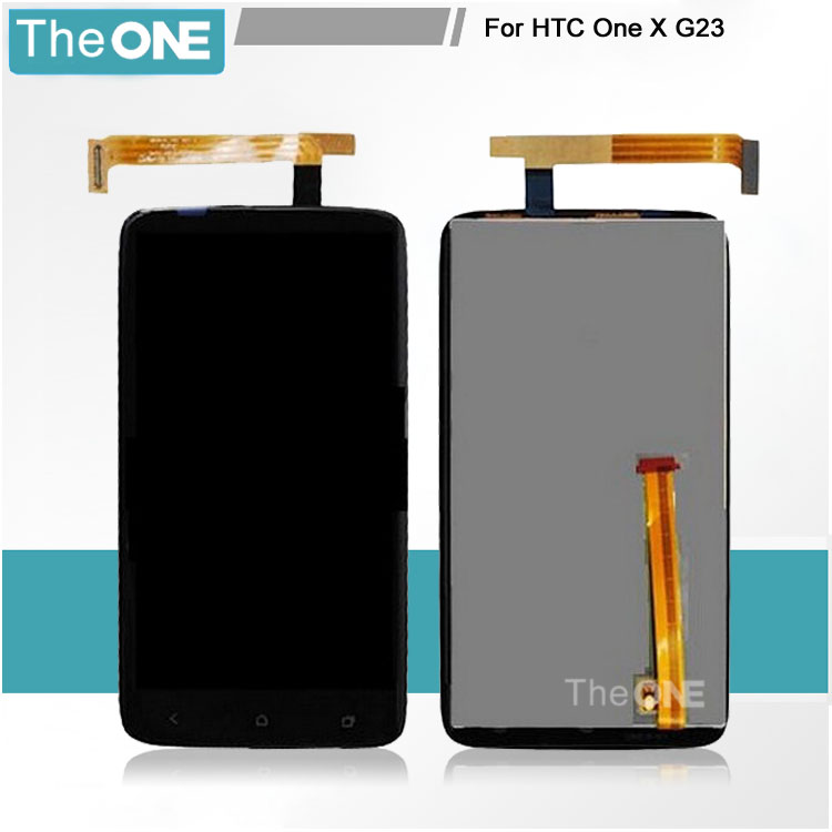 DHL For HTC One X LCD Digitizer Assembly Touch Screen Glass Panel LCD Display Panel Replacement for HTC ONE X G23 S720E Black lcd screen display touch panel digitizer with frame for htc one m9 black or silver or gold free shipping