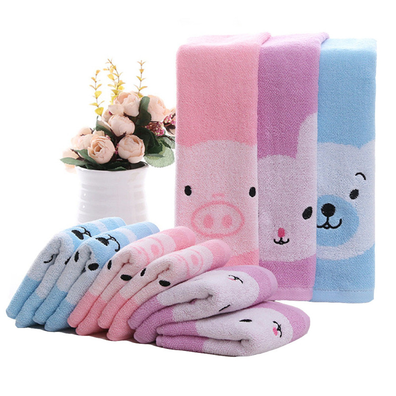1 Pcs Baby Face Towels Cute Animal Cartoon Infant Hand Towel Newborn Boys Girls Wipe Washcloths Baby Care Water Absorption Soft