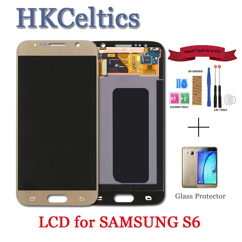 OLED LCDs For <font><b>Samsung</b></font> GALAXY S6 <font><b>G920</b></font> G920F LCD <font><b>Display</b></font> and Touch Screen for <font><b>samsung</b></font> s6 lcd Digitizer Assembly image